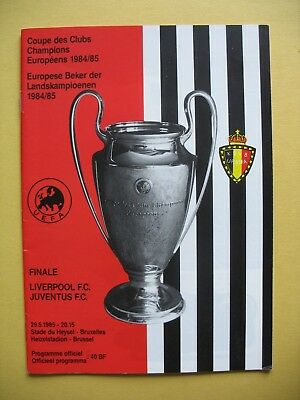 LIVERPOOL v JUVENTUS EUROPEAN CUP FINAL 29th MAY 1985