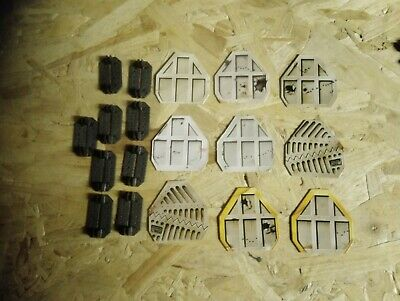 GAMES Workshop SPACE CRUSADE SPARE PARTS doors x9 with bases