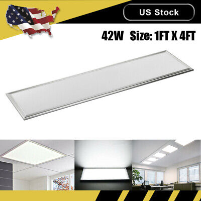 42W LED Panel Lights Ceiling Recessed Mounted Cool White Fixtures Room 1FT*4FT