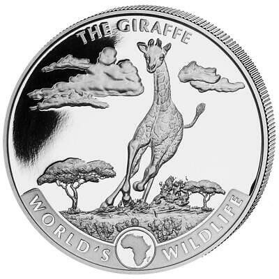 2019 Geiger Silver World's Wildlife Giraffe 1 oz Coin Roll of 20