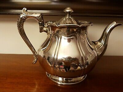 Good Antique Silver Plated Teapot By James Dixon