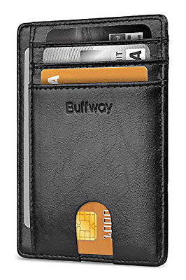 Slim Minimalist Front Pocket RFID Blocking Leather Wallets for Men Women New