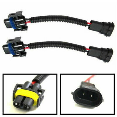 2x H8 H9 H11 Wiring Harness Socket Wire Connector Plug Adapter For HID LED Light