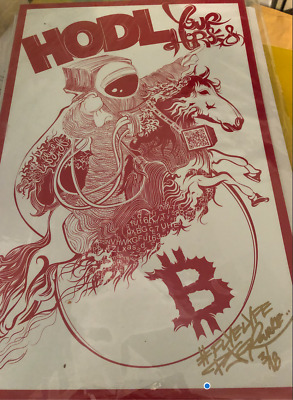 Crypto Mixed Art - BTC Cryptocurrency Art- By Artist: PJ O'Rourke *NUMBERED 3/18