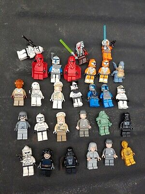 Lego Star Wars Vadar Luke Boba Fett Troopers 28 Figs With Weapons MiniFigures