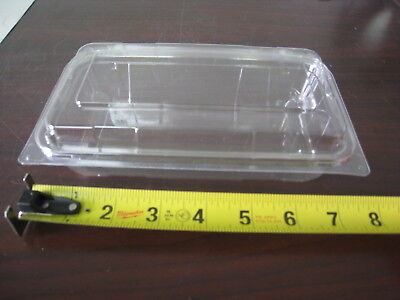 "304 x Clear Container Plastic Disposable 6.5"" x 3.5"" x 2"" Floral Corsage Bakery"