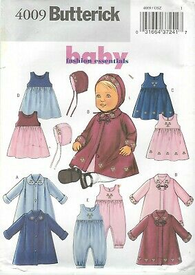 Butterick 4009 Infant Coats, Jumper, Jumpsuit and Hat   Sewing Pattern