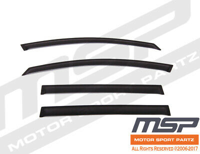 Dark Grey Outside Mount JDM Vent Visors Deflector 2pc For Dodge Challenger 08-16