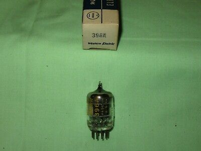 Nos Western Electric 396A Black Plate O Getter Date Code 7039 Tv7 Tested