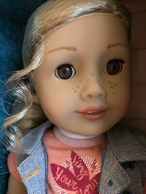 American Girl Gift  For Holidays Tenney Grant Doll & Spanish Book Nib Blond