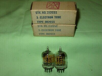 Lot Of 2 Nos Western Electric Jw 2C51 396A Black Plate Same Date Code 152