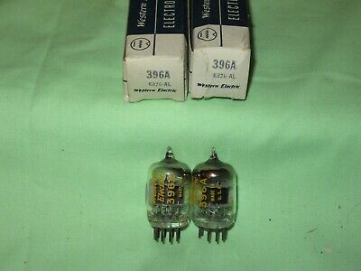 Lot Of 2 Nos Western Electric 396A Black Plate Square Getter Same Dc 6826