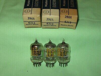 Lot Of 3 Nos Western Electric 396A Black Plate Square Getter Same Dc 6313