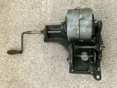 Antique Vintage Victrola Motor With Gears Handle