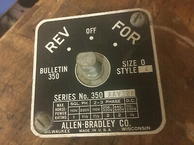 ALLEN BRADLEY 350-AAV32 Rare Vintage Switch DRUM SWITCH REVERSING NO HANDLE