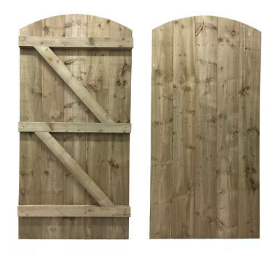 Wooden Bespoke Garden Gate / Tanalised Treated Wood Timber Gates / Fast Delivery