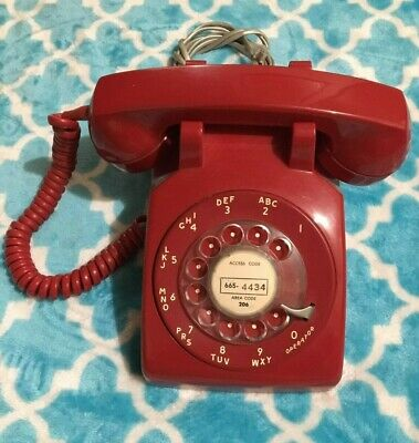 Stromberg Carlson Red USA Rotary Dial Telephone Untested Vintage!!