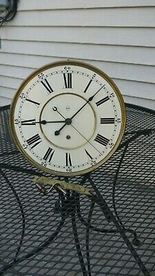 seth thomas no. 19 large wall regulator reproduction weight driven movement pro.