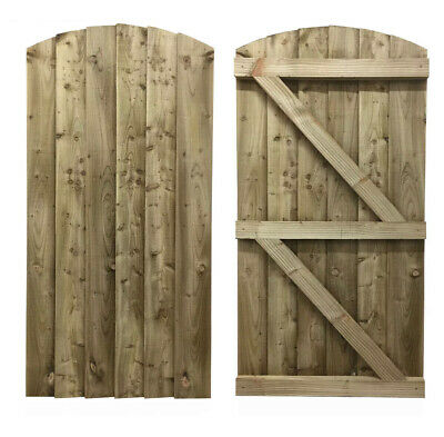 Wooden Featheredge Bespoke Garden Gate / Tanalised Treated Wood Timber Gates