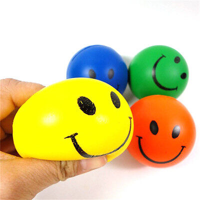 6.3 Squeeze Ball Smile Face Hand Wrist Exercise Stress Relief Venting Bal  ASTSA