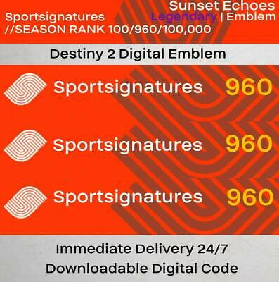 Sunset Echoes Destiny 2 Emblem Digital Code Immediate Delivery 24/7 PC PS4 XBOX