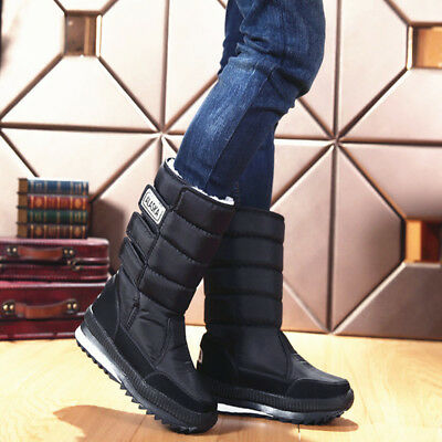 Men's Snow Boots Insulated Waterproof Rugged Heavy Duty Thermolite Winter Shoes