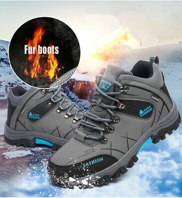 Warm Sports Outdoor Waterproof Ankle Hiking Work Shoes Men's Winter Snow Boots
