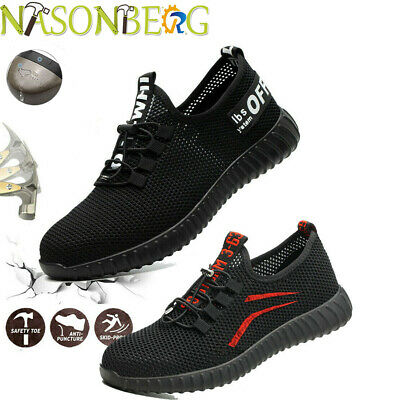 Steel Toe Cap Work Safety Shoes Lightweight Indestructible Boots Industrial US