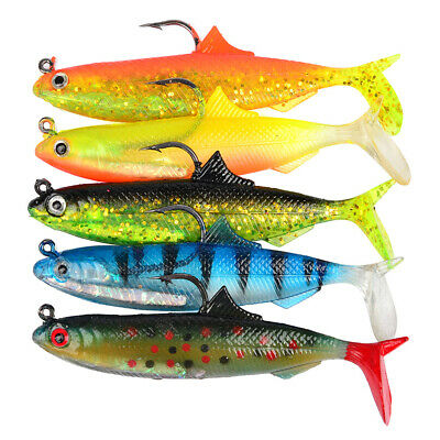 Artificial Fishing Lures Small Minnow Lure Bass Crank Soft Bait Tackle Hooks