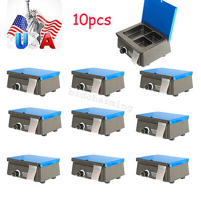 10x【USA】3 Well Analog Wax Heater pot Melting Dipping Melter container equipment
