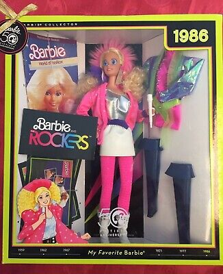 BARBIE and the ROCKERS 1986 Reproduction Doll 50th Anniversary Edition NIB