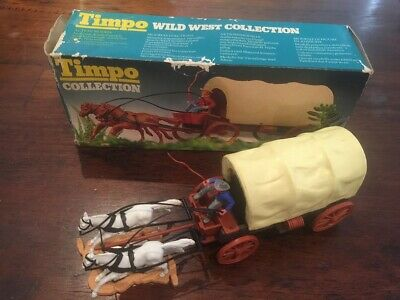 Timpo 2nd Series Wagon Boxed - Wild West - 1970s