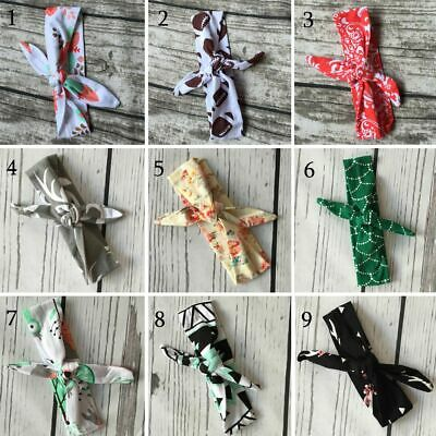 Floral Boys Girls Baby DIY Headband Rabbit Ears Bow Turban Knotted Hairbands