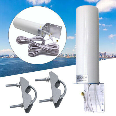 Dual Wire SMA Male 2G 3G 4G LTE Outdoor Wall Mount Signal Booster Antenna White