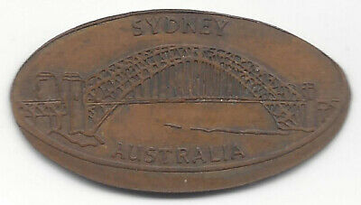 Sydney Australia Sydney Harbour Bridge Image Rolled / Elongated Coin Bz