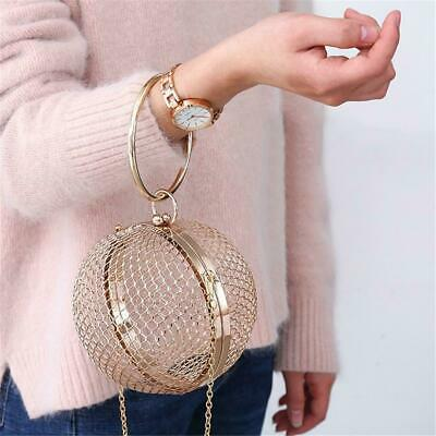 Women Cage Bag Hollow Ball Shaped Party Prom Handbag Purse Ladies Evening Clutch