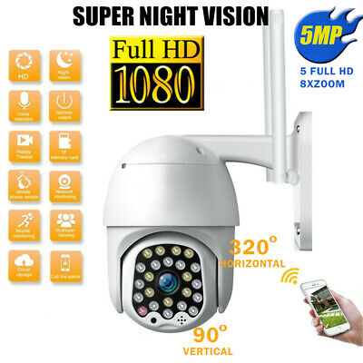 1080P HD Outdoor Waterproof WiFi PTZ Security IP IR Camera Night Vision 23 LEDs