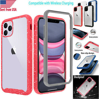 Hybrid Shockproof Heavy Duty Clear Back Case Cover Fr iPhone 11 Pro Max/11 Pro