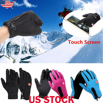 Mens Womens Winter Windproof Ski Warm Gloves Motorcycle Touch Driving Gloves USA