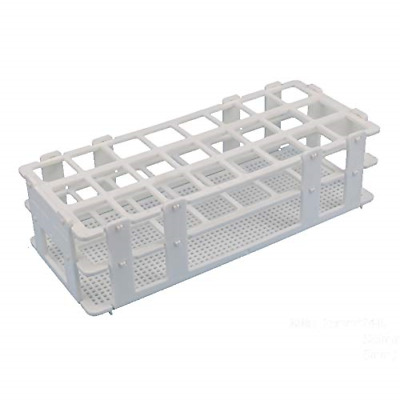 24 Well Holes Test Tube Rack Detachable Plastic 25mm Diameter White Space-Saving