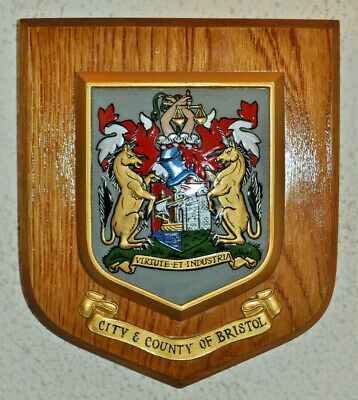 City and County of Bristol wall plaque shield