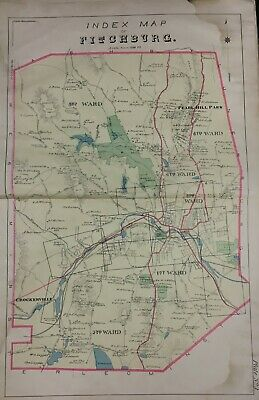 1895 Fitchburg Worcester County, Ma Pearl Hill Park Index Page Atlas Map