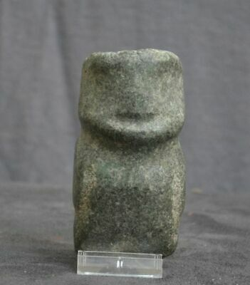 Nice statue of a standing figure,Stone, Mezcala Mexico, 500 - 100 BC