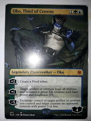 Mtg Oko, thief of crowns extended art  x 1 booster fresh mint  condition