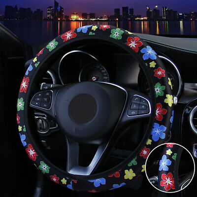 Auto  Steering Wheel Cover No Inner Ring Decoration Wrap 38CM Floral Interiors