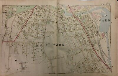 1895 Fitchburg, Worcester County, Ma Laurel Hill Cemetery Atlas Map