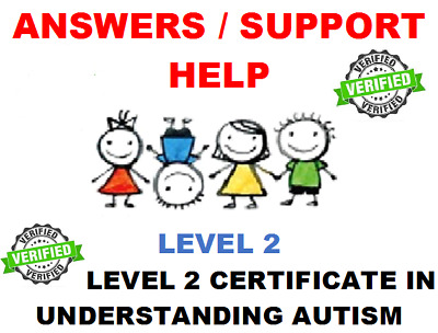 Ncfe Level 2 Certificate In Understanding Autism Answers / Help