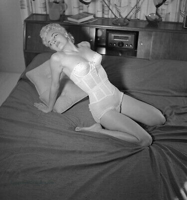 Bunny Yeager 1955 Black & White Camera Negative Maria Stinger Pin Up Hi-Fi Queen