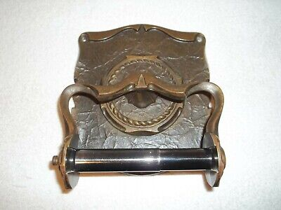 Vtg Amerock Carriage House Antique English Wall Mount Toilet Paper Holder