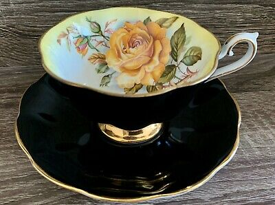 RARE ROYAL ALBERT MILADY SERIES Cup & Saucer Large Yellow Rose Bone China